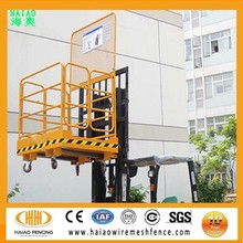 Made in China factory sale flodable forklift cages,forklift work platform,forklift safety cage