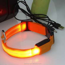 LED Flashing Rechargeable Pet Dog Collar With USB Charge Cable
