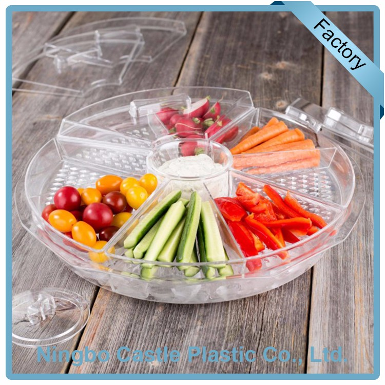 Wholesale Price Plastic Acrylic Appetizer Plates Serving Food Platter