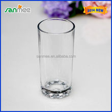High Quality Machine Pressed Beads Bottom Glass Beverage Cup