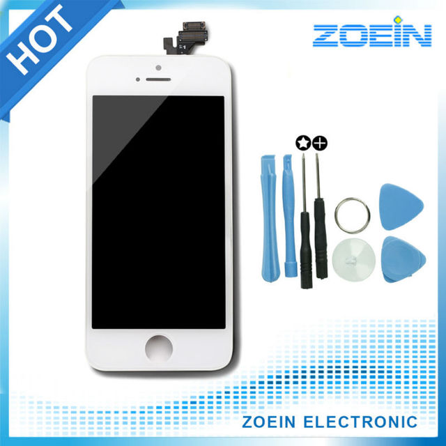 Hot Sale High Quality AAA  Replacement Screen LCD For iPhone 5 5S Display With LCD Digitizer Touch Screen Assembly Black White