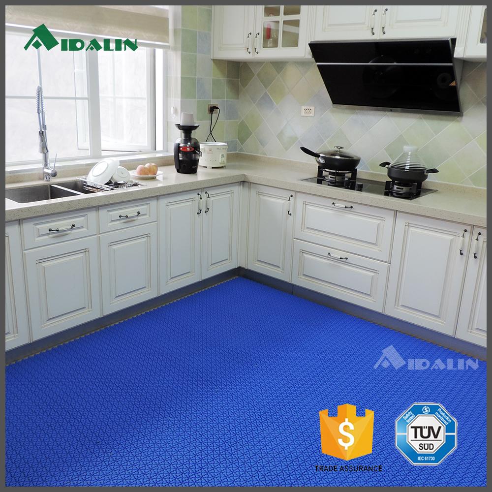 Interlocking kitchen floor tiles