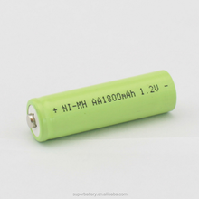 CE qualified 1800mAh 1.2V rechargeable AA NI-MH batteries button top cell