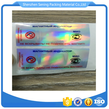 3D hologram/security hologram sticker label/holographic sticker