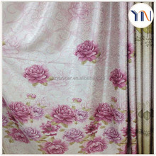 100%poly fancy &beautiful floral printed living room curtain