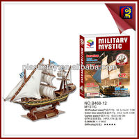 Easy assemble puzzle 3d paper ship model (129PCS)