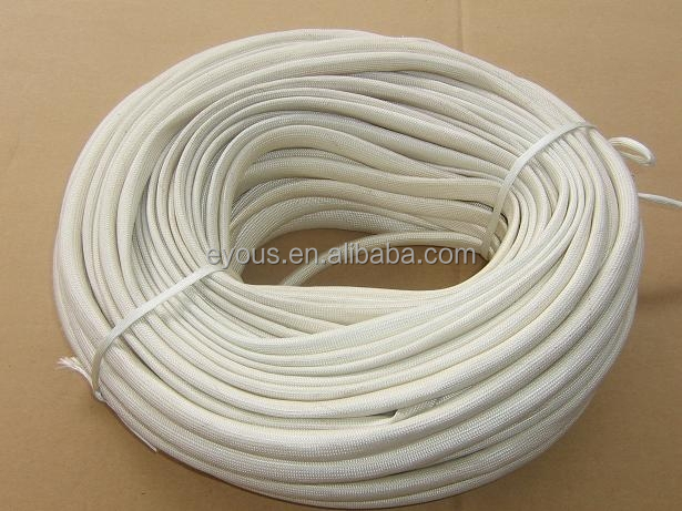 braided silicone rubber high temperature casing,glass fiber woven pipe cover,insulating snakeskin sleeve,self-extinguishing tube