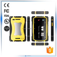 IP66 2G 3G Bluetooth GPS WIFI FM compass gyroscope G-Sensor Accelerometer 7 inch touch screen rugged android tablet