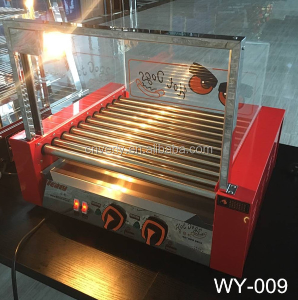 CE Appoved 9 Roll Hot dog grill machine / hot dog grill for sale WY-009