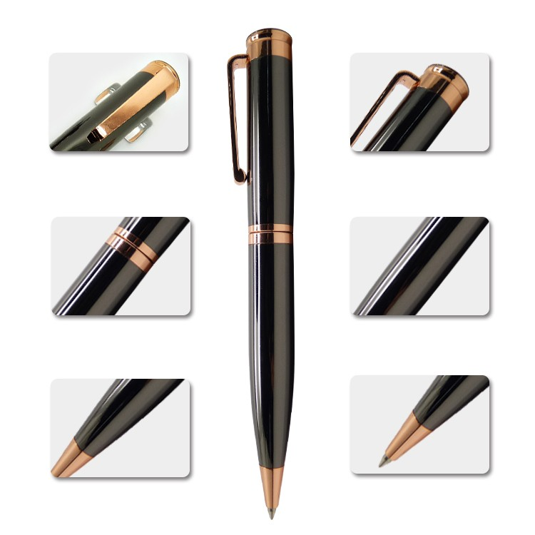Customized office set gift itemes logo pen gold