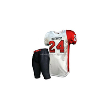 Youth Sublimation American football jersey & pant, coustom american football uniform