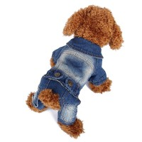 Smart Fastener Pet Dog Jeans Clothing For Small Dog Jackets Doglike Outfit For XXS Puppy Clothes Bobby Dog Coat