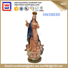 hot selling nativity figurines and resin indoor religious decorative statue and virgin mary mother with kids