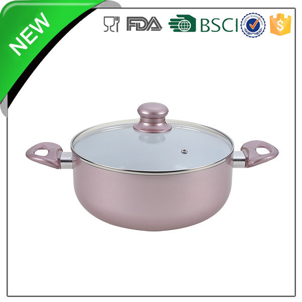 different color aluminum casserole saucepan saucepot