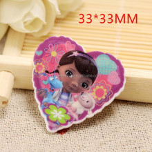 children's Kawaii princess heart planar resin cabochons little girls cartoon brooch resin accessories