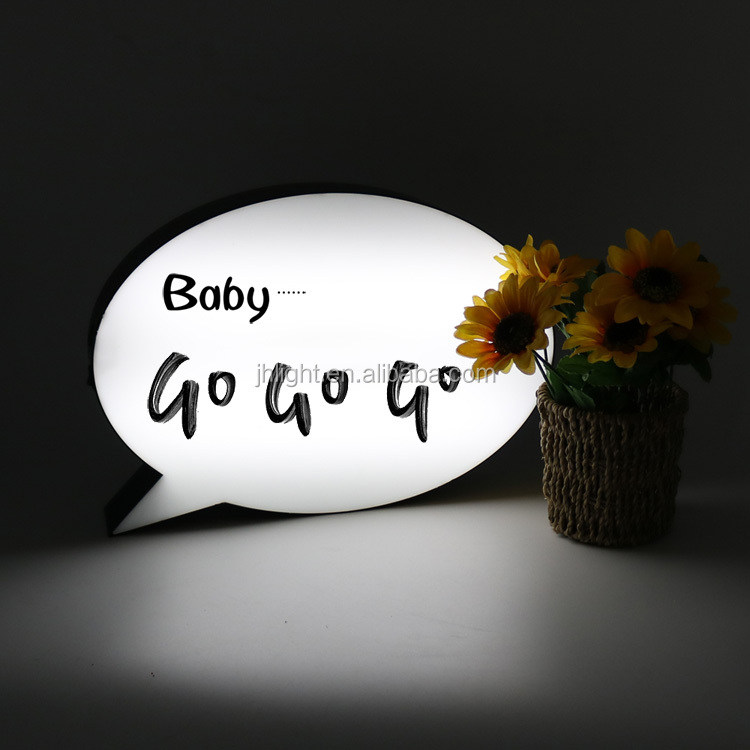 A4 A5 Speech Bubble Handwriting Light Box-LED-Message Lighting Board,Sign Party Wedding Decor