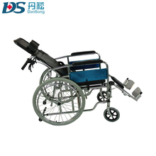 Lightweight big tires adjustable wheelchair stretcher with toilet