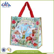 China Best Selling laminated used color printed Pp Woven reusable flexible shopping shoulder tote document Bag Printing Ink