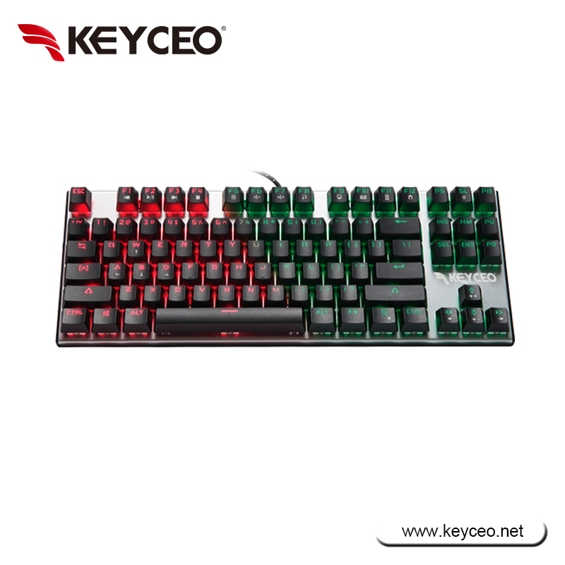 87 keys RGB aluminium mechanical keyboards