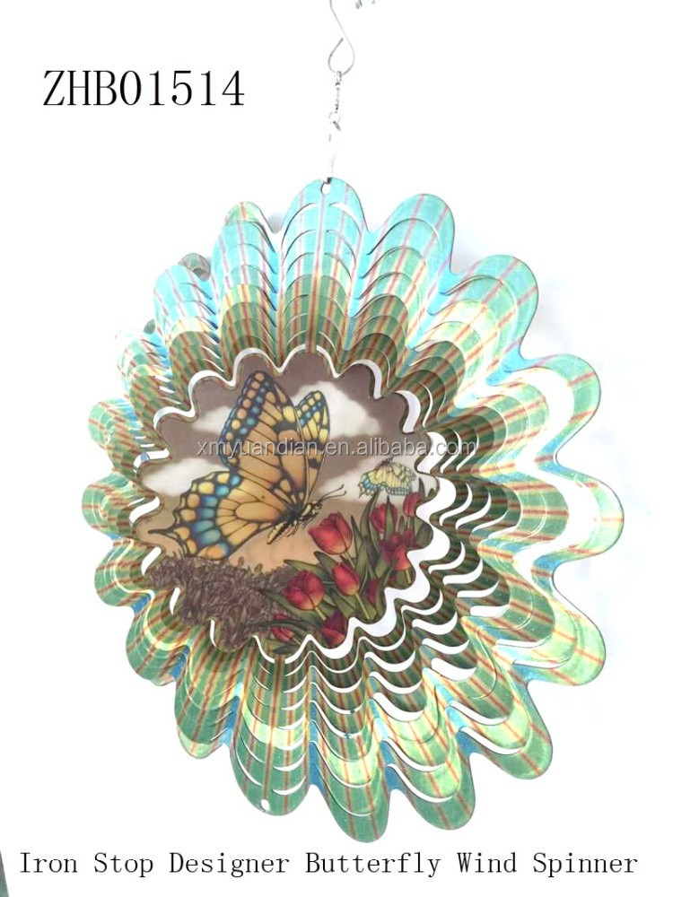 Wholesale Butterfly design 3d wind spinners