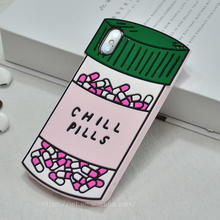 Chill Pills 3D Cartoon Soft TPU Silicone Protective Phone Case