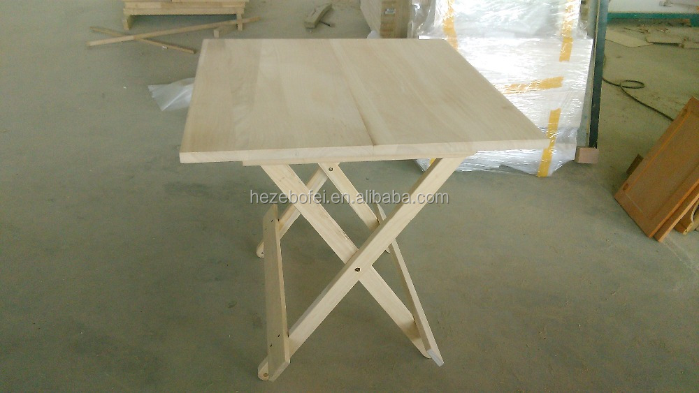 Cheap Paulownia Wood Folding Table And Chair Paulownia Furniture Customsize