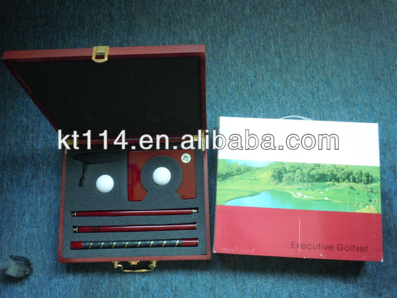 Executive Three Sections Redwood Office Golf Putter Set