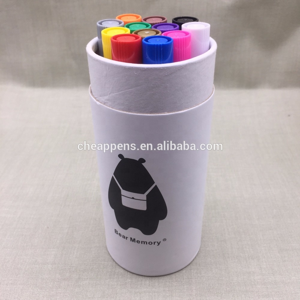 glitter powder metallic color marker pen for gift card drawing & writing