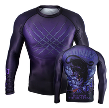 Hot sale custom printed rash guard mma