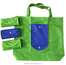 Custom printed nylon / polyester foldable shopping tote bag