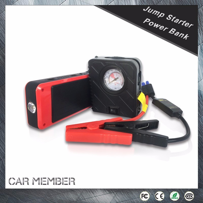 Car Member manufacturer handy car jump starter power bank for supplying of charging mobile and starting cars