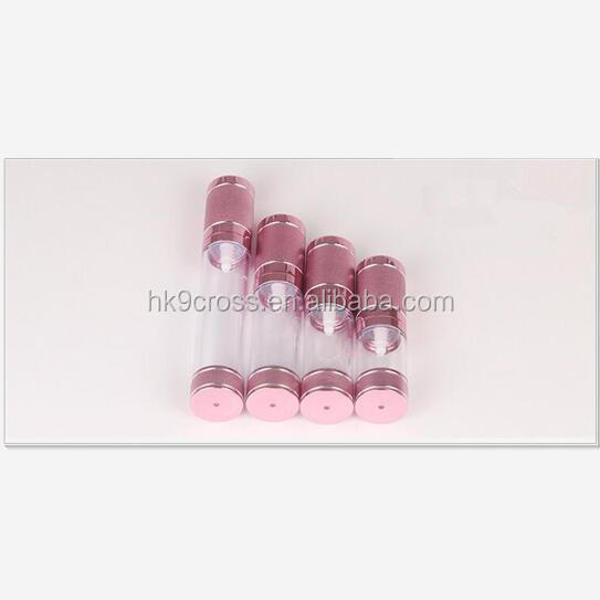 15ml 30ml 50ml 100ml rose gold cosmetic pump bottle with sprayer cap