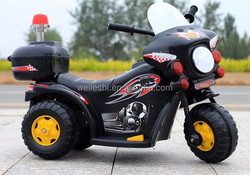 Battery Operated Rechargeable Police Motorcycle Riding On Kids Toy