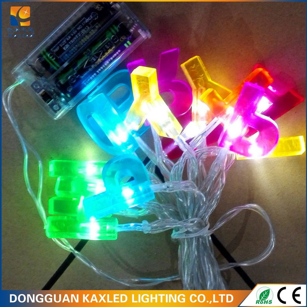 Various shapes LED red flower shape string light Christmas decoration