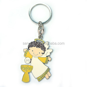 Flying JHS Angel pendant ring keychain Christianity religious gift