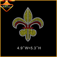 Beautiful fleur-de-lis hot fix transfer rhinestones