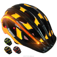 2016 hot Sale Bike Cycling Helmet with LED EPS+PVC Ultralight Mountain road protective Bike Helmet 30 holes 56-61 cm 3 Color
