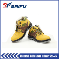 Brand cheap High Ankle nubuck Leather safety shoes S F1802