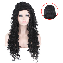 YXCHERISHAIR best selling products curly wave Lace Wigs Natural Black kinky curl Wavy Synthetic hair Wig For Women
