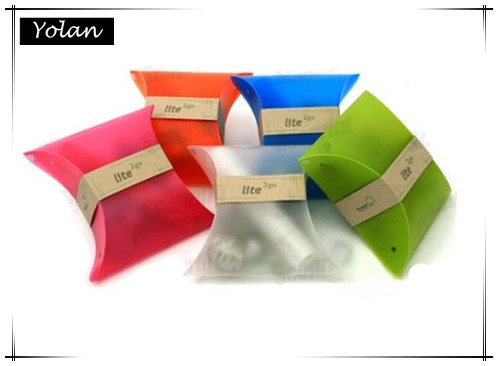 Customize , can print logo, clear plastic pillow box