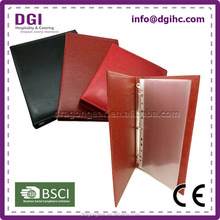 customized size University Leather Certificate Cover Holder Wholesale price