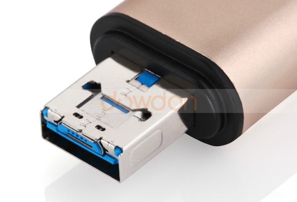 Aluminum Type C Card Reader Mobile Phone OTG USB 3.1 Micro/SD Card Reader