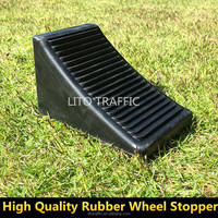 Light Weight Recycled Solid Rubber Wheel Chock Wheel Stopper