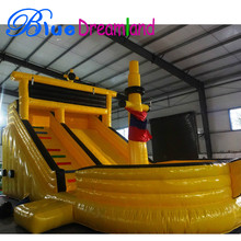 Multifunctional pirate boat inflatable slide for sales