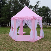 Kids Indoor Princess Castle Play Tents Outdoor Girls Large Playhouse Pink Hexagon Kids Play Tent Child Play Tent