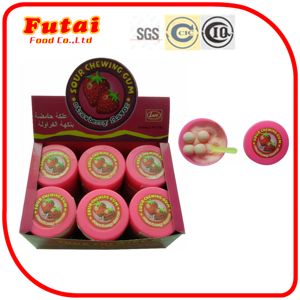 18g Strawberry flavour powder candy chewing gum