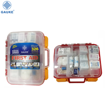 First aid kit 326 pieces with tilting shelves exceeds ANSI guidelines