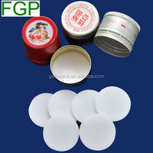 Guangdong factory supply closed-cell polyethlene foam seal insert/liner for aluminum screw top cap for wine