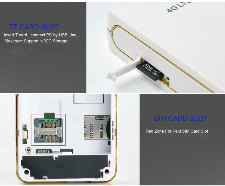 EDUP Unlock 4G Router with Sim Card Slot with 4100mAh Power Bank