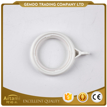 Best sale custom made white plastic large shower curtain rings